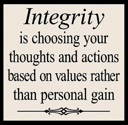 Ideas to fix my integrity tattoo integrity comes when character is tested On personal integrity hangs humanity's fate