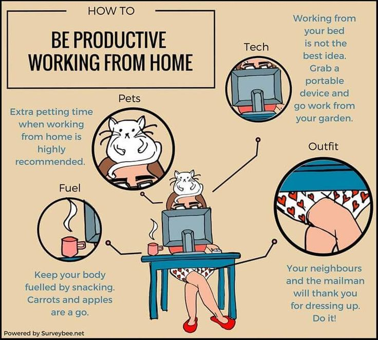 How to be productive when working from home resume