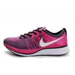 Nike Flyknit Trainer+ Damesko Rosa Hvit Svart | Nike billige sko | kjøp Nike sko på nett | Nike online sko | ovostore.com