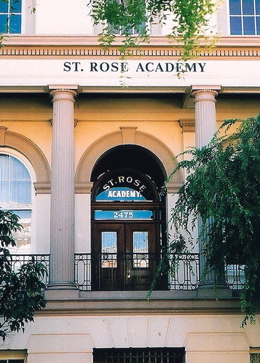 St Rose Academy, SRA, All hail to thee St Rose - corner of Pine & Pierce ... where I attended high school and (revealed here for the first time) was part of a gang that stole birthday cakes in the late 60s!