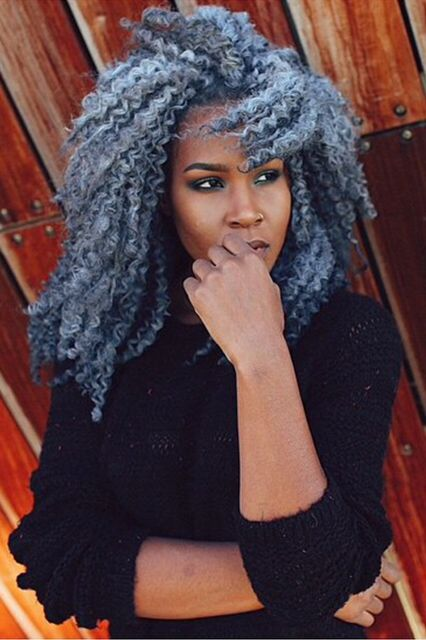The 6 Hottest Curly-Hair Color Trends Of 2015 #refinery29  http://www.refinery29.com/naturally-curly/27#slide-6  Gray  Friends and family may not get it, and it's not the most flattering color for the majority of skin tones — but that's not stopping us from attempting the gray trend in 2015. It used to be really difficult to achieve the hue, but Pravana just made it a little easier with its first gray dye, ChromaSilk Vivids in Silver. If you're ahead of the curve and already went icy white…