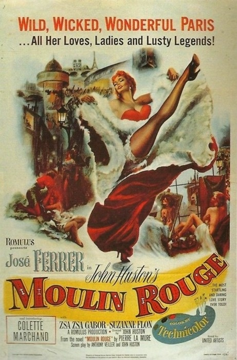 Moulin Rouge (1952) Thinking about painting this on my living room wall maybe??