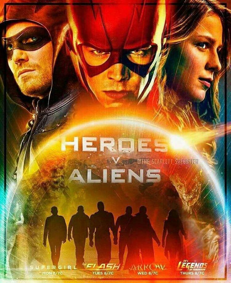 Heroes v Aliens #Arrow #Supergirl #LegendsOfTomorrow #TheFlash