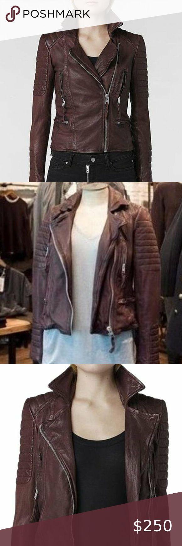 All Saints 'Alder Leather Jacket US 4 in 2020 Leather
