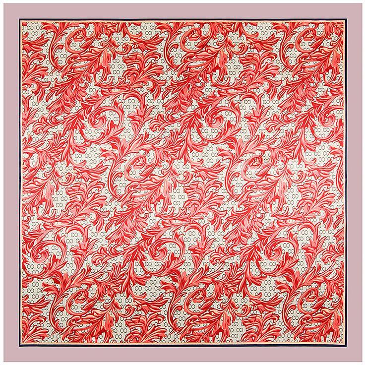 90cm * 90cm new scarf black and white 8 word flower imitation silk scarf towel