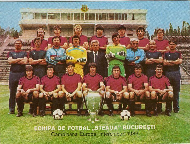 Steaua Bucharest team group in 1986.