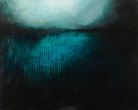 Beneath Your Summer Skies - Abstract Oil Painting by Cedric Vanderlinden