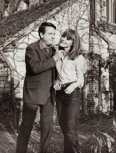 Jean Desailly and Françoise Dorléac, on the set of La Peau Douce