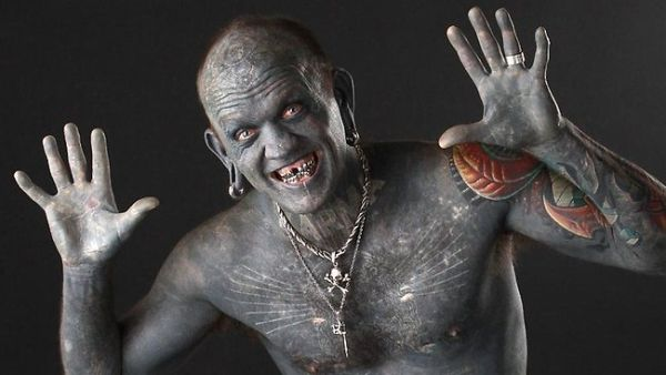 Meist tätowierter mensch-der Welt-Lucky Diamond-Rich Rekorde Guiness
