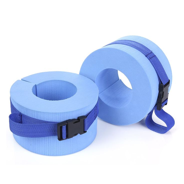 New Arrival Paired EPS Foam Water Aerobics Swimming Weights Aquatic Cuffs for Ankles Arms Swimming Accessories (Blue)