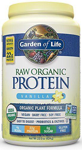 Garden of Life Organic Vegan Protein Powder with Vitamins and Probiotics - Raw Organic Protein Shake, Sugar Free, Vanilla 22oz (624g) Powder - http://alternative-health.kindle-free-books.com/garden-of-life-organic-vegan-protein-powder-with-vitamins-and-probiotics-raw-organic-protein-shake-sugar-free-vanilla-22oz-624g-powder/