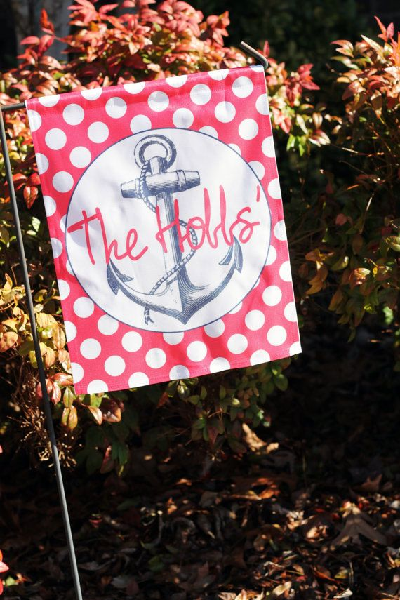 Personalized Garden Flag Nautical Designs By SFBeachHouseBoutique, $28.00