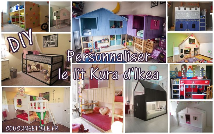 diy lit ikea kura enfant cabane for kids pinterest. Black Bedroom Furniture Sets. Home Design Ideas