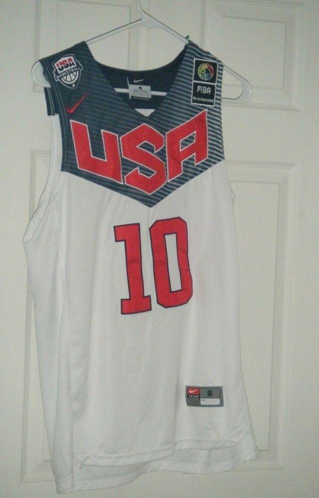 meet 82233 3520d Kyrie Irving #10 Team USA Nike Men Basketball Jersey White ...
