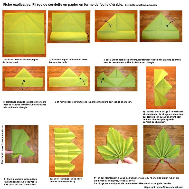 Pliage De Serviette En Papier 2 Couleurs Feuille Fashion Designs Avec Pliage Serviette Feuille D Erable Et Pliage De Serviette Avec Deux Couleurs 59 1200x1200px Di 2020 Dengan Gambar