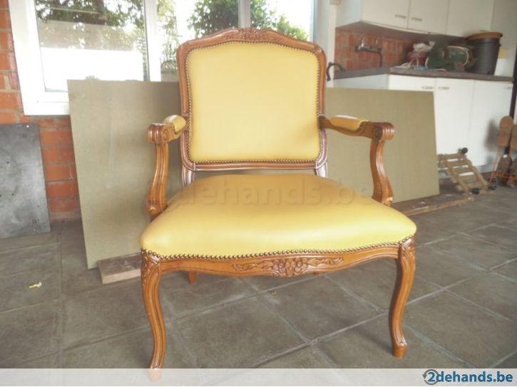 Retro fauteuil / zeteltje