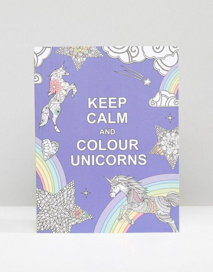 Keep Calm and Colour Unicorns Colouring Book #ASOS #clicktoshop #thesaleshopper