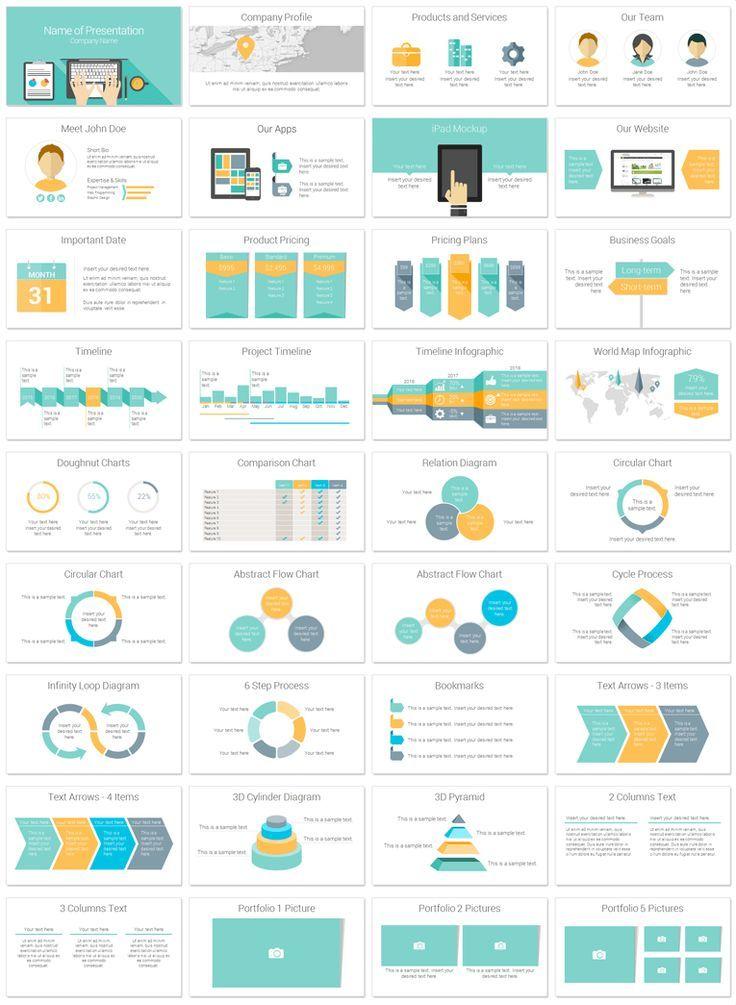 Computer PowerPoint Template | Design: PPT | 그래프 디자인 ...