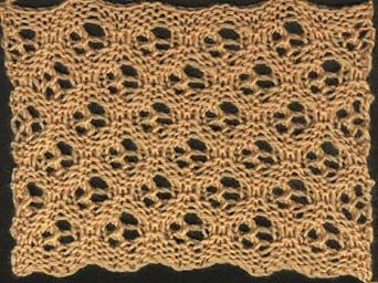 Honeycomb Patterns - KnitWiki. Of 16 rows, Cast on a multiple of 6sts + 4  1st, 3rd, and 5th rows: Sl 1, *Sl 2, K1, YO, K2tog, K1, repeat from * to last 3 sts, Sl 2, K1  2nd and 4th rows: Sl 1 purlways, Sl 2 purlways, *P1, YO, P2tog, P1, Sl 2 purlways, repeat from * to last st, P1...