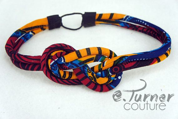 Colorful Sailors Knot Headband  African Headband by ETurnerCouture