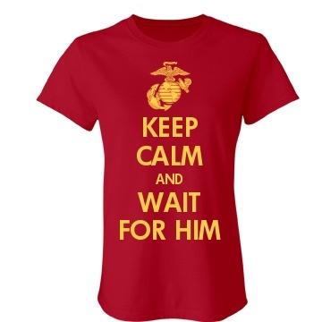 Marine Girlfriend Junior Fit Bella Crewneck Jersey Tee