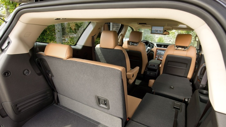 The 2013 Chevy Traverse Crossover SUV boasts best-in-class cargo space.