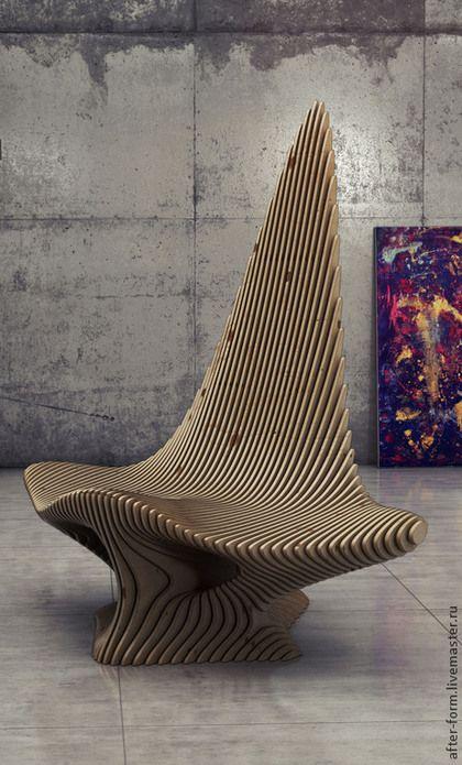 """Мебель ручной работы. Ярмарка Мастеров - ручная работа. Купить Параметрическая мебель стул """"Скат"""" из фанеры. Handmade. Дизайн, Мебель"""