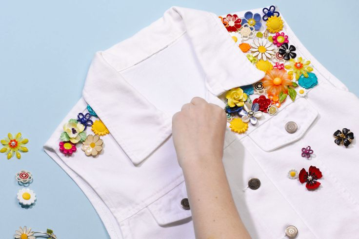 Embellish your denim vest with this easy #DIY
