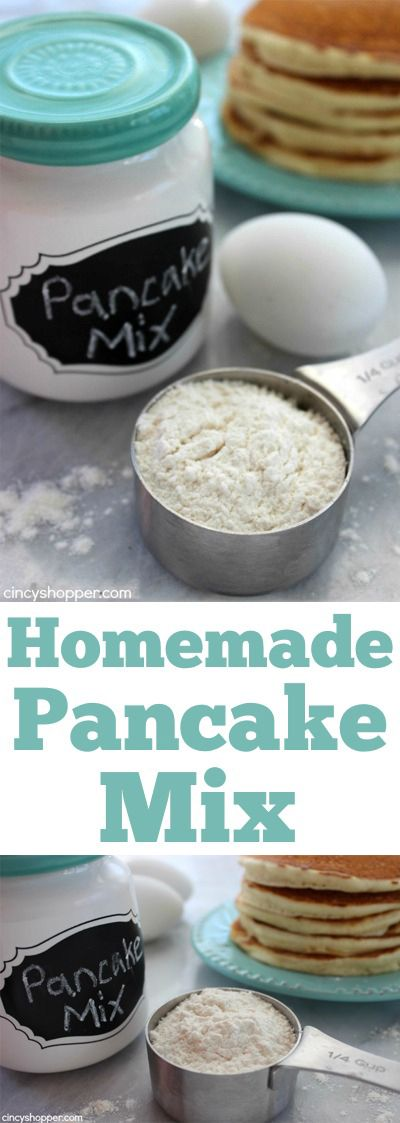Homemade Pancake Mix- No need to purchase prepackaged. Just a couple ingredients are needed to make your own.