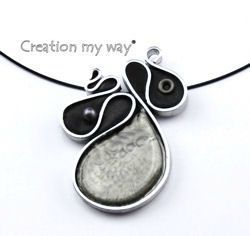 realization of a pendant curvaceous using wire aluminium flat polymer clay and painting indeed magic choice of six colors - Fil D Aluminium Color