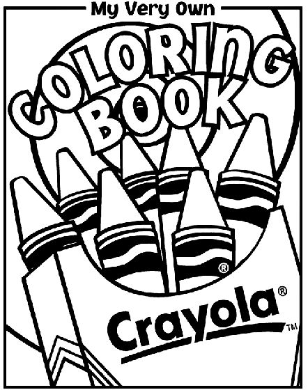 Crayola Coloring Book Free Pages Are Available To Print And Add This Cover Sheet Making A That Matches Your Childs Interests