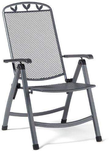 Greemotion Klappsessel Toulouse, anthrazit/schwarz/silber, Artikelmaße: ca. 58 x 64 x 108 cm greemotion