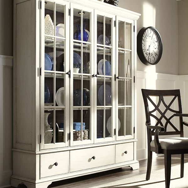 Trisha Yearwood Home Monticello Curio Cabinet With Additional Drawer Storage And Paned Glass Doors By Collection Klaussner On