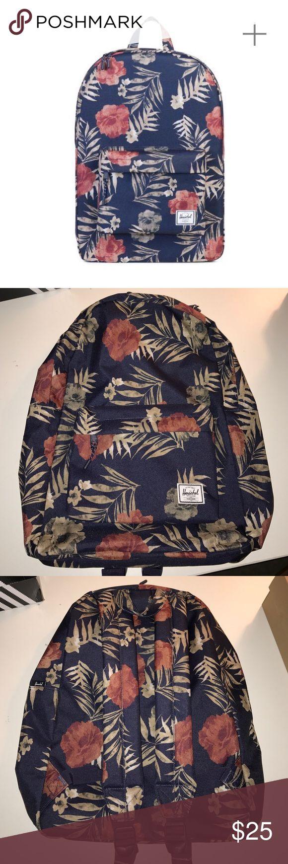 Herschel Classic backpack, Hawaiian floral print Brand: Herschel. Classic backpack with Hawaiian Floral print. Style#  10001-01342-OS. Never used Herschel Supply Company Bags Backpacks