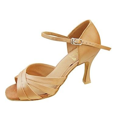 Customize Performance Dance Shoes Satin Upper Latin Shoes for Women – USD $ 34.99  This pair of Dance Shoes is Customized. You can choose the Heel Type, Heel Height, and Color of this pair of Custom Dance Shoes. For delivery details, see our Tailoring Time Page.