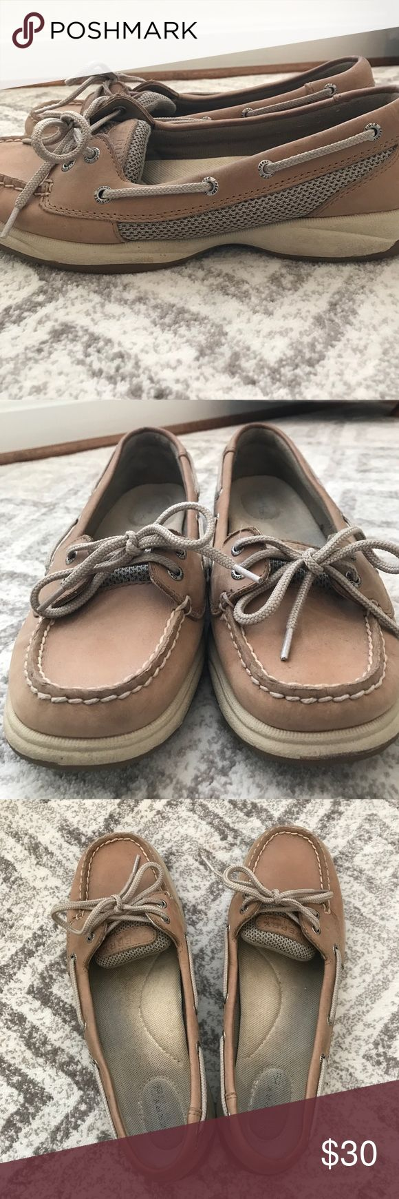 Sperry Women's Boat Shoe Used Sperry Angelfish shoes. Very comfortable and slightly worn. No big stains or scratches on the leather either. Sperry Top-Sider Shoes Athletic Shoes