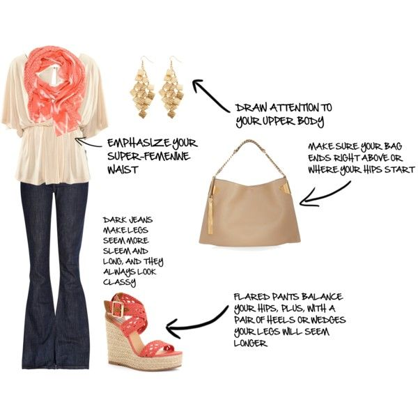 Outfit for pear shapes