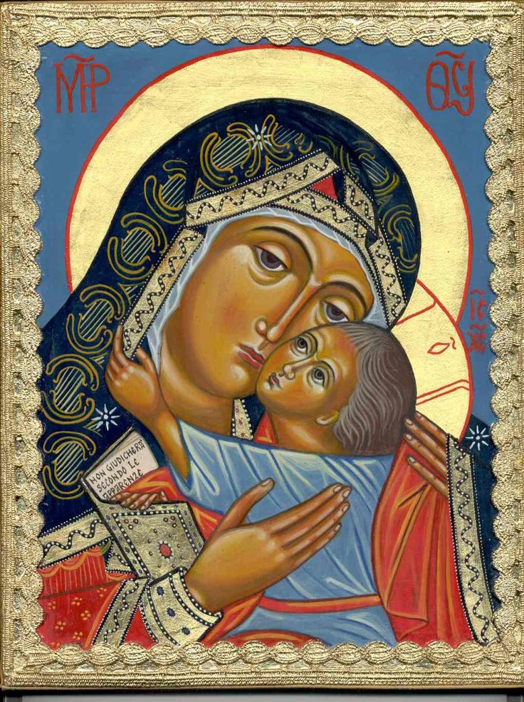 Madre di Dio della Bucovina.  Per mano di Crstina Capella www.mirabileydio.it