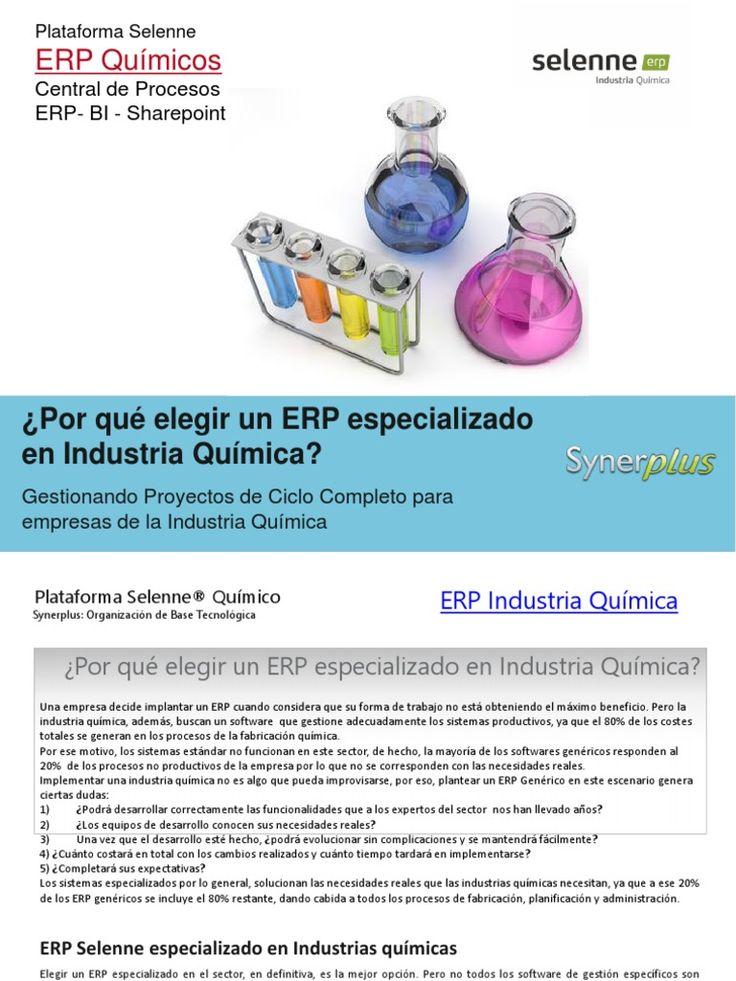 ¿Por qué elegir un ERP especializado en Industria Química?  Una empresa decide implantar un ERP cuando considera que su forma de trabajo no está obteniendo el máximo beneficio. Pero la industria química, además, buscan un software que gestione adecuadamente los sistemas productivos, ya que el 80% de los costes totales se generan en los procesos de la fabricación química.  Por ese motivo, los sistemas estándar no funcionan en este sector, de hecho, la mayoría de los softwares genéricos…