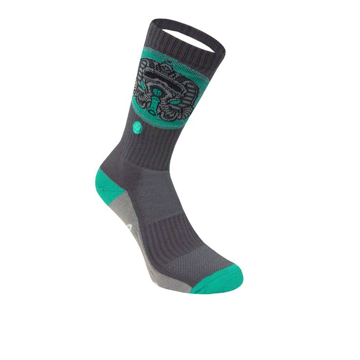 Legends Sock Company Freehand Profit Teal Tuts Crew Socks