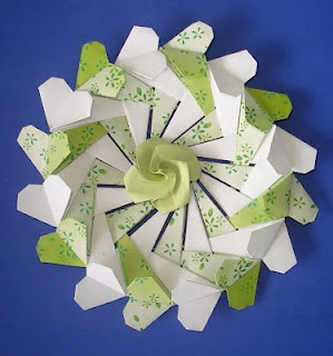 coracao coroa origami