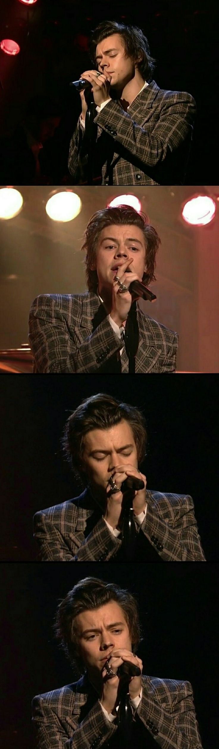 Harry Styles performing on Saturday Night Live