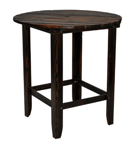 Shine Company Round Counter High Table, 36 Inch, Burnt Brown By Shine  Company