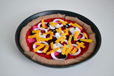 Pizza für den Kaufladen