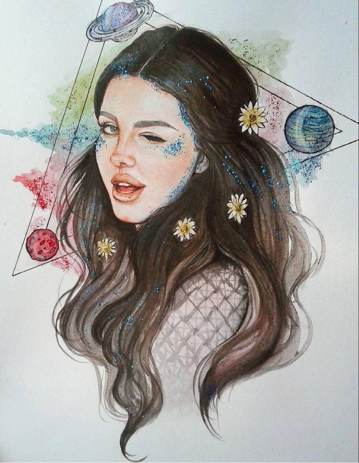 Lana Del Rey #LDR #art by Patricia Zierhut