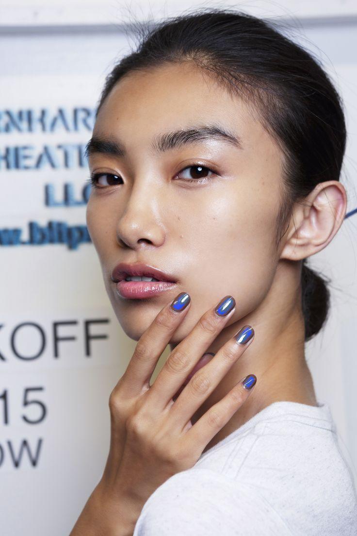 Manicure: trendy wiosna-lato 2015, Reed Krakoff, fot. Imaxtree