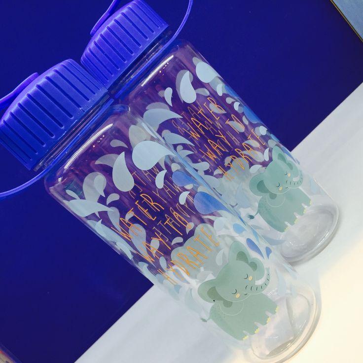Plastová láhev na vodu s motivem slona #Zooniverse #elephant #waterbottle #lahev