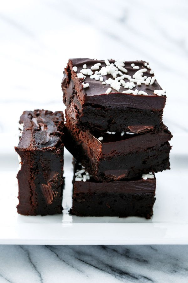 Gingerbread Brownies - Incredibly rich and fudgy and laced with molasses and spices. A perfect holiday dessert recipe!
