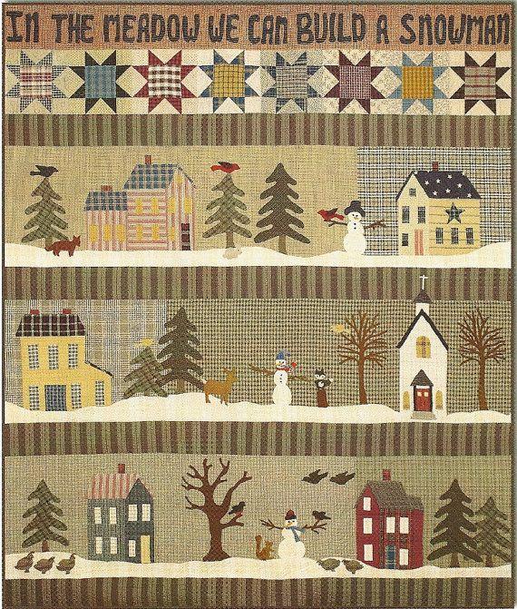 Primitive Folk Art Quilt Pattern In the Meadow by PrimFolkArtShop, $30.00