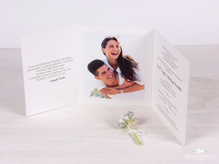 Wedding invitations with photo Zaproszenia ślubne ze zdjęciem Pary Młodej